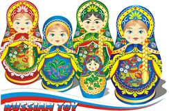 Russian nesting dolls. Royalty Free Stock Photography