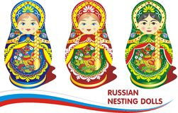 Russian nesting dolls. Stock Images