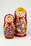 Russian nesting dolls on a white background. Russian nesting dolls on a white background Royalty Free Stock Photography