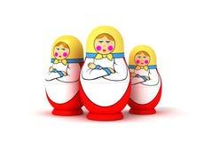 Russian Nesting (Matryoshka) Dolls Stock Images