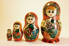 Russian Nestling Dolls Royalty Free Stock Image
