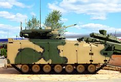 Russian new generation infantry fighting vehicle stock image