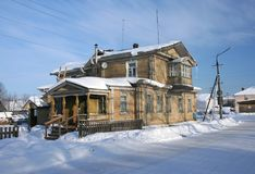Russian northern house stock images