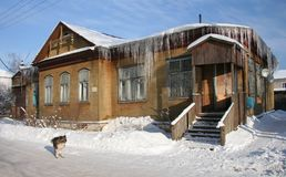 Russian northern house stock photography