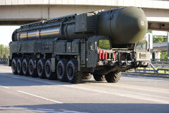 Russian nuclear missile Topol-M Royalty Free Stock Photos