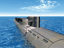 Russian Nuclear Submarine Royalty Free Stock Photos