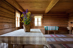 Russian obsolete rural interior Stock Image