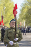 Russian officers at the parade on the occasion of the Victory Day celebrations on May 9. 2015 Stock Photo