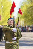 Russian officers at the parade on the occasion of the Victory Day celebrations on May 9. 2015 Stock Photography