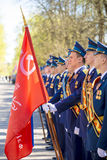 Russian officers at the parade on the occasion of the Victory Day celebrations on May 9 Royalty Free Stock Photo