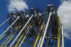 Russian oil production Royalty Free Stock Photos