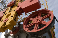 Russian oil production. Rig on the oilfield royalty free stock photography