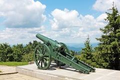 Russian old artillery on Shipka, Bulgaria Royalty Free Stock Images