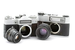 Russian old cameras Stock Image