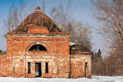 Russian old church ruins Stock Photo