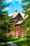 Russian old church in the woods Stock Photo