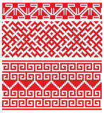 Russian old embroidery. There is a scheme of ukrainian pattern for embroidery Stock Photos