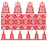 Russian old embroidery church Royalty Free Stock Photos