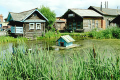 Russian old rural view Royalty Free Stock Photos