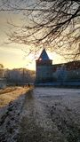Russian old tower. This tower is part of the ancient fortifications Stock Photography