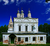 Russian old white Orthodox Church Stock Images