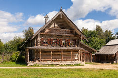 Russian Old Wooden house Stock Image