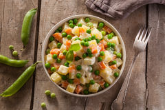 Russian Olivier salad Stock Photo