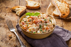 Russian or Olivier salad Stock Photos