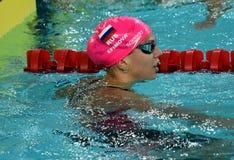 Russian olympian and world champion breaststroke swimmer Yulia Yefimova Royalty Free Stock Photo