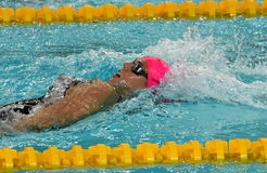Russian olympian and world champion breaststroke swimmer Yulia Yefimova Stock Photos