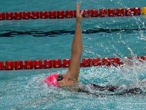 Russian olympian and world champion breaststroke swimmer Yulia Yefimova Royalty Free Stock Photography
