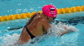Russian olympian and world champion breaststroke swimmer Yulia Yefimova Stock Images