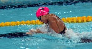Russian olympian and world champion breaststroke swimmer Yulia Yefimova Royalty Free Stock Images