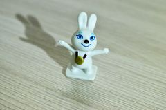 Russian Olympic sports white hare. stock image