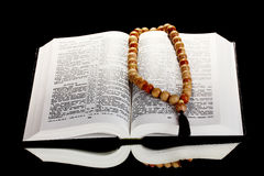 Russian open holy bible Royalty Free Stock Images