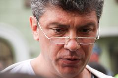 Russian opposition leader Boris Nemtsov. MOSCOW, RUSSIA - may 6, 2012: Russian opposition leader Boris Nemtsov in protest actions of the Russian opposition, may Royalty Free Stock Image