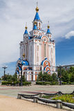 Russian Orhodox Church in Khabarovsk Stock Images