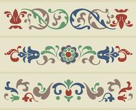 Russian Ornament. Traditional Russian Ornament in three versions Royalty Free Stock Images