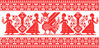 Russian ornament. Old russian ornament in red colour Royalty Free Stock Photos