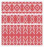 Russian ornament embroidery. Russian ornament for embroidery end decoratives elements Royalty Free Stock Images