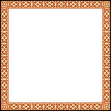 Russian ornamental frame. Frame with old Russian traditional ornament, vector illustration Stock Photos