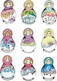 Russian ornamental matryoshka Stock Photos