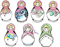 Russian ornamental matryoshka Stock Photo