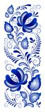 Russian ornaments. In gzhel style. Gzhel (a brand of Russian ceramics, painted with blue on white vector illustration
