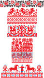 Russian ornaments stock illustration