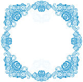 Russian ornaments art frames in gzhel style. Gzhel Royalty Free Stock Image