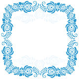 Russian ornaments art frames in gzhel style. Gzhel Stock Photography