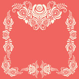 Russian ornaments art frames in gzhel style. Gzhel Royalty Free Stock Images