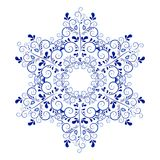 Russian ornaments. New Year's snowflake. Royalty Free Stock Photos