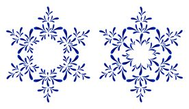Russian ornaments. New Year's snowflake. Stock Photos